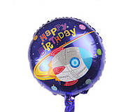 """Шар """"Космос / ракета"""".45 см фольгированный круглый """"Happy Birthday"""""""