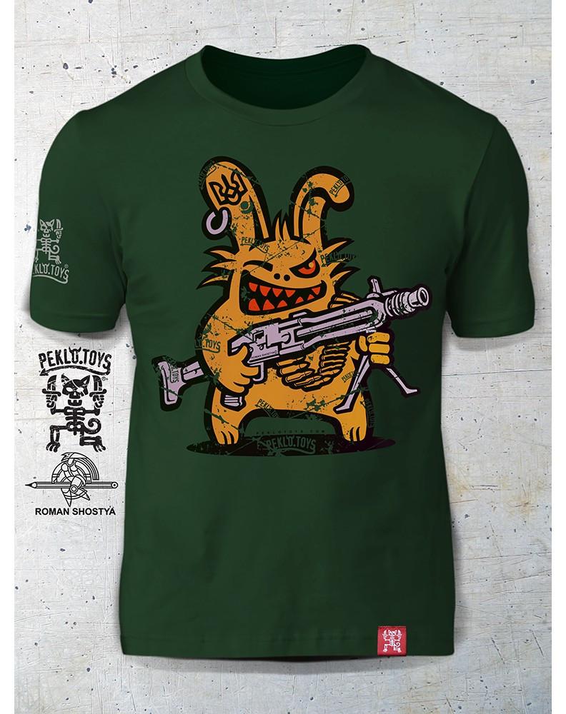 PEKLO.TOYS футболка Пекельний Зайчик з Машингвером Olive