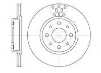 Тормозной диск передний FIAT DOBLO (119),DOBLO Cargo (223),BRAVO II (198) 1.4,618910
