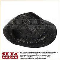 Шляпа с полями чёрная блестящая пластик