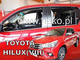 Дефлекторы окон (ветровики)   Toyota Hilux/Runner 2015 ->4шт (Heko)