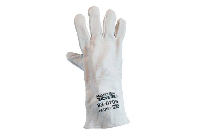 """Перчатки Mastertool - замшевые краги 35см х 14"""" (серые), фото 2"""