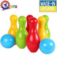Боулинг игрушка для детей (6 кеглей и 2 шара), Технок 4692