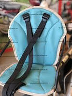 Велокресло детское, на прямую раму, металлическая основа Голубой aqua