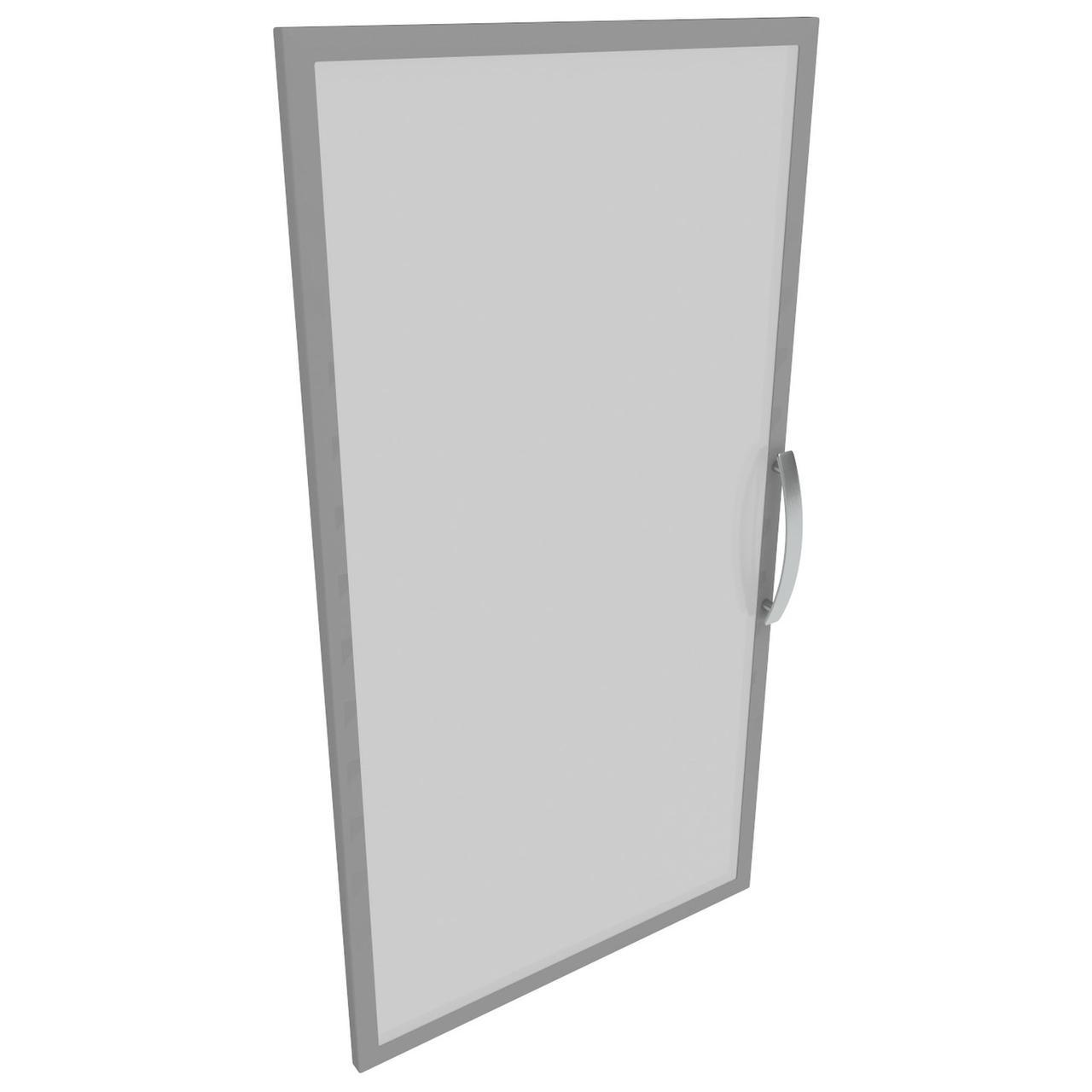 Дверца 3-х секционная М23R АртМобил (404х18х1183мм) стекло/кромка алюм