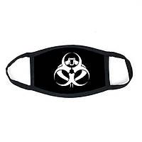 Многоразовая маска с принтом Опасность  женская,мужская, подростковая
