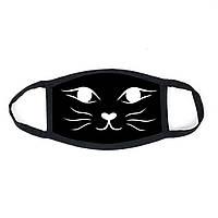 Многоразовая маска с принтом Кошка №2  женская,мужская, подростковая