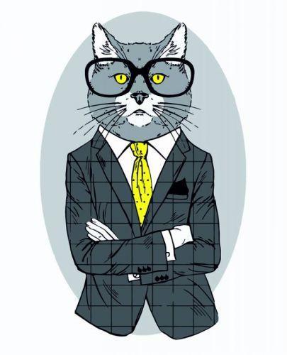 """Картина по номерам """"Fashion Cat"""" ★☆☆"""