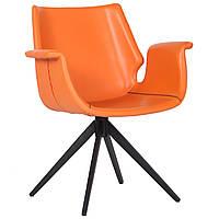 Кресло Vert orange leather
