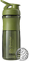 Шейкер Blender Bottle SportMixer MOSS GREEN (828 мл.) - Темно-зеленый