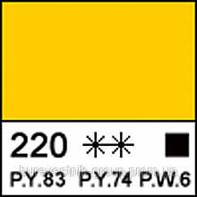 """Художественная акриловая краска """" Сонет """" ЗХК """"Невская Палитра"""", желтая средняя, 75мл ЗХК"""