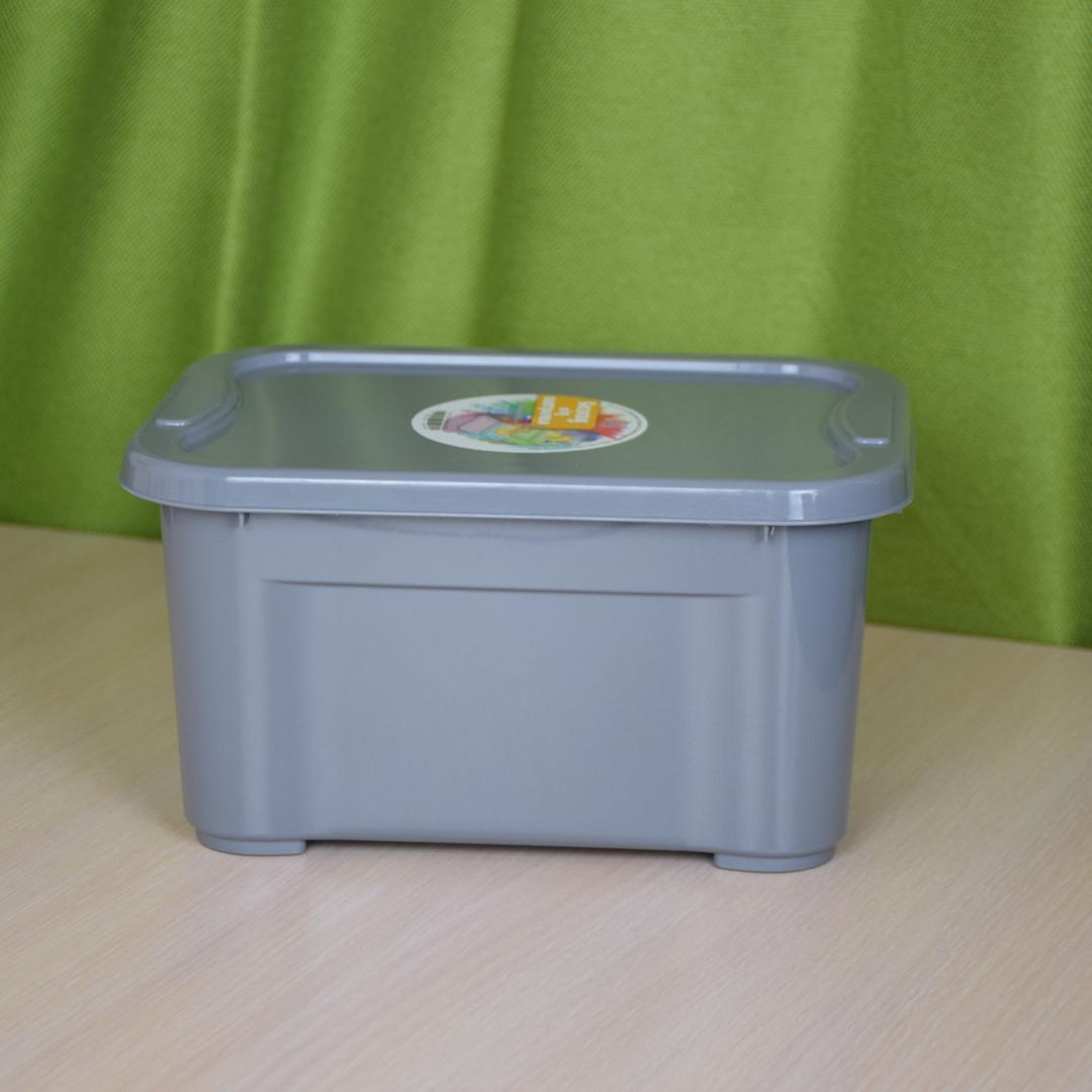 Контейнер для хранения вещей с крышкой 5 литров / Органайзер / Ящик для хранения