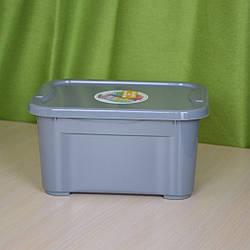 Контейнер для зберігання речей з кришкою 5 літрів / Органайзер / Ящик для зберігання