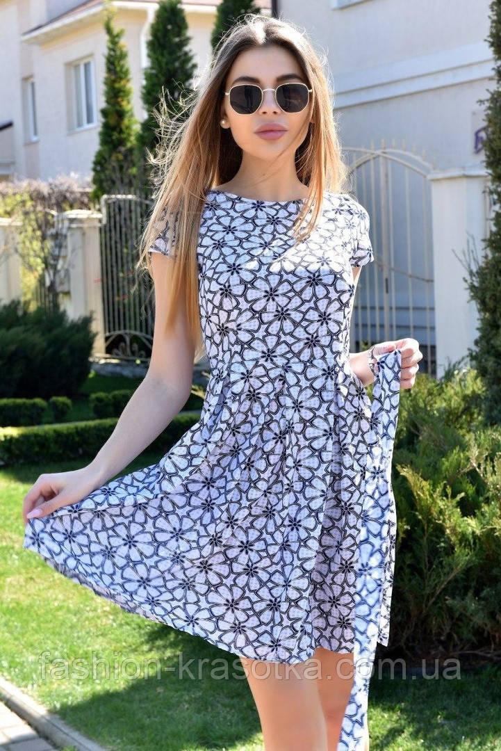 Модное легкое летнее платье,размеры:44,46,48,50.