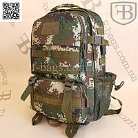 Рюкзак тактический, военный зеленый пиксель 35л 771