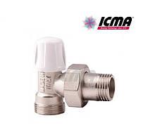 Угловой ручной вентиль простой регулировки нижний для  пластиковой, металлопластиковой трубы 1/2*16, фото 1