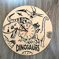 Красивые детские часы из дерева  «Эпоха динозавров»