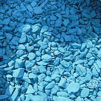 Цветной щебень голубой 5-10мм