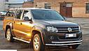 Защита переднего бампера (ус двойной) Volkswagen Amarok 2010-2015, фото 2