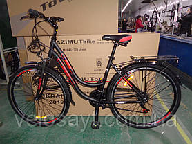 "Горный велосипед 28 дюймов Azimut Street  FRD рама 15,5-17 "" BLACK-RED, фото 2"