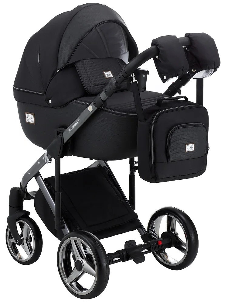 Детская универсальная коляска 2 в 1 Adamex Luciano Polar Graphite Q98