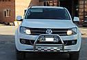 Кенгурятник с усами (защита переднего бампера) Volkswagen Amarok 2010-2015, фото 2