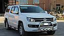 Кенгурятник с усами (защита переднего бампера) Volkswagen Amarok 2010-2015, фото 3