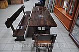 Стол деревянный дачный 1600*800 для кафе, баров, ресторанов от производителя, фото 3