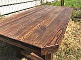Мебель под старину в беседку из массива состаренного дерева от производителя, фото 2