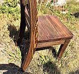Мебель под старину в беседку из массива состаренного дерева от производителя, фото 4