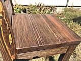 Мебель под старину в беседку из массива состаренного дерева от производителя, фото 8