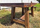 Мебель под старину в беседку из массива состаренного дерева от производителя, фото 9