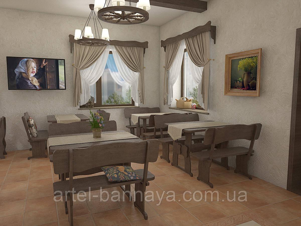 Деревянная мебель для ресторанов, баров, кафе в Броварах от производителя