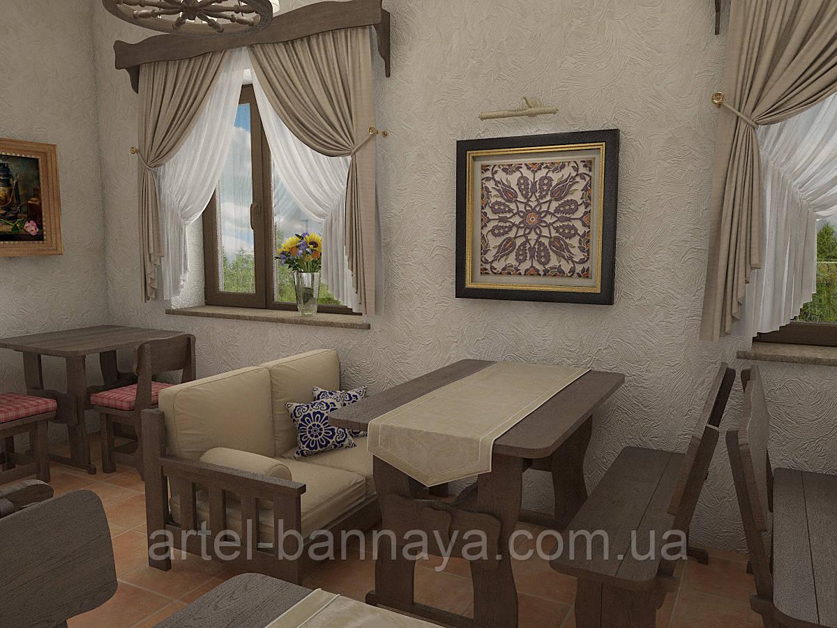 Деревянная мебель для ресторанов, баров, кафе в Днепре от производителя