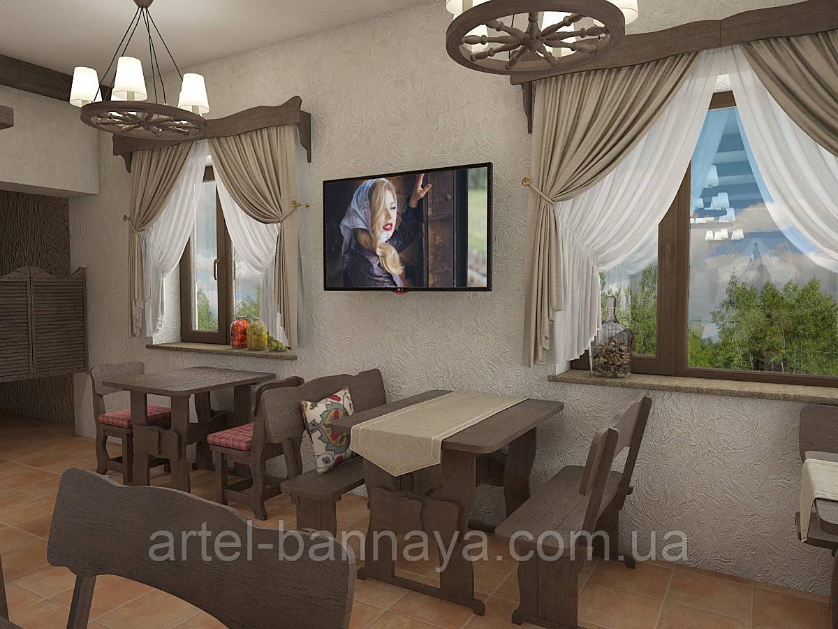 Деревянная мебель для ресторанов, баров, кафе в Каневе от производителя