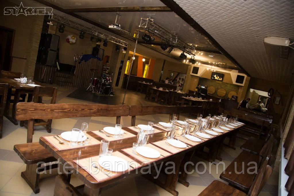 Деревянная мебель для ресторанов, баров, кафе в Мариуполе от производителя