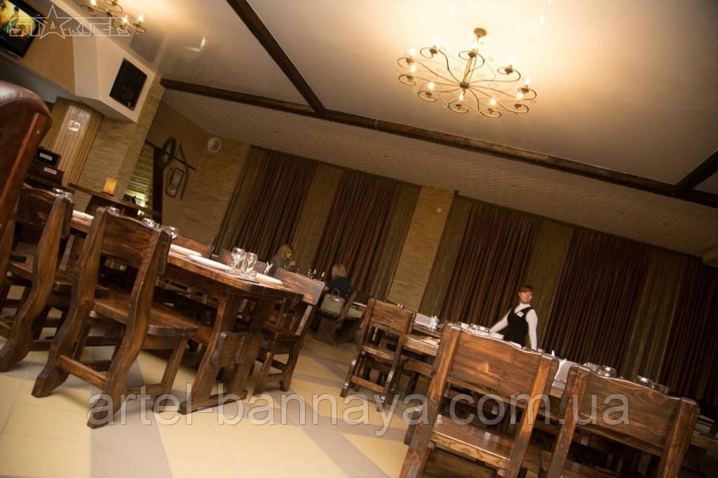 Деревянная мебель для ресторанов, баров, кафе в Могилёв-Подольске от производителя