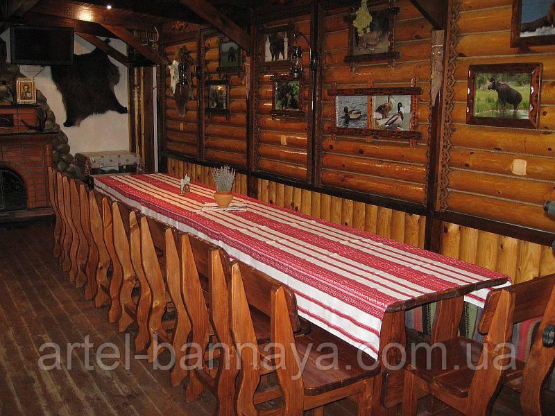 Деревянная мебель для ресторанов, баров, кафе в Николаеве от производителя