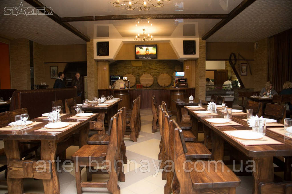 Деревянная мебель для ресторанов, баров, кафе в Харькове от производителя