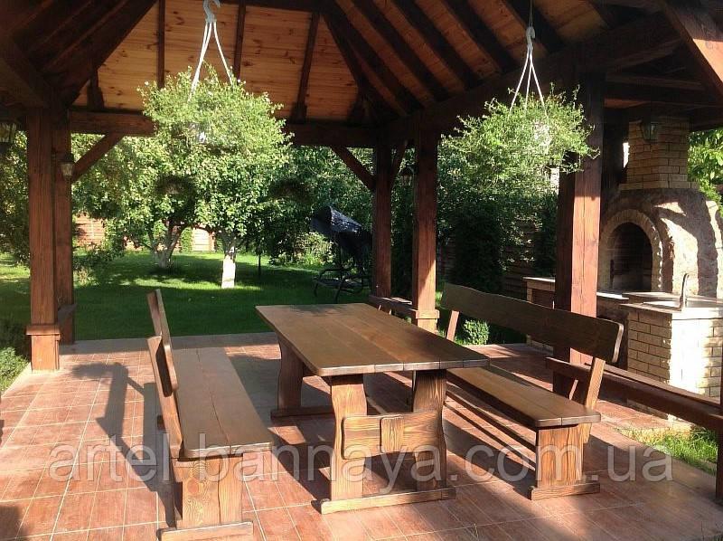 Деревянная мебель для беседок и мангалов в Днепропетровске от производителя