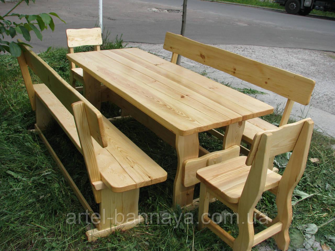 Деревянная мебель для беседок и мангалов в Жёлтых Водах от производителя