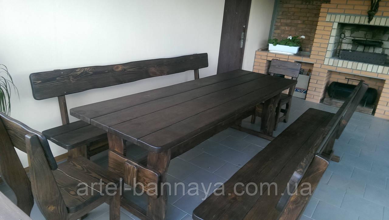 Деревянная мебель для беседок и мангалов в Кременчуге от производителя