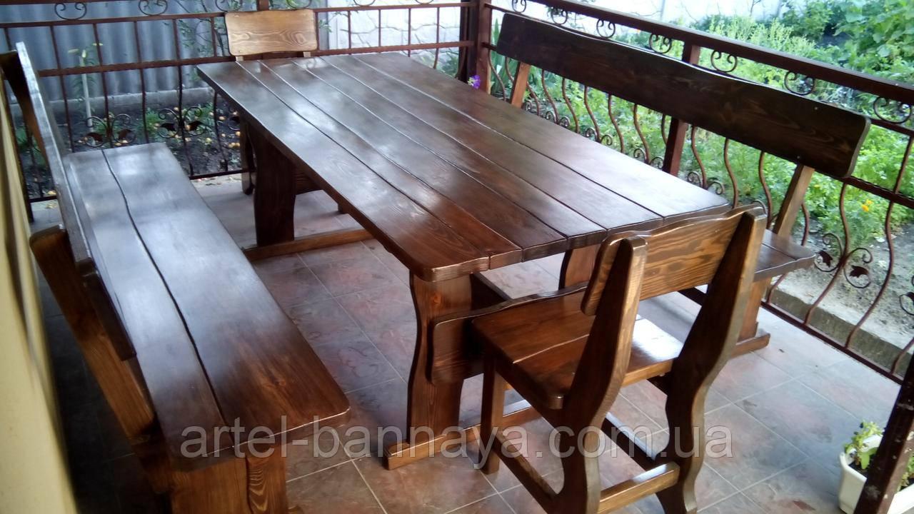 Деревянная мебель для беседок и мангалов в Мелитополе от производителя