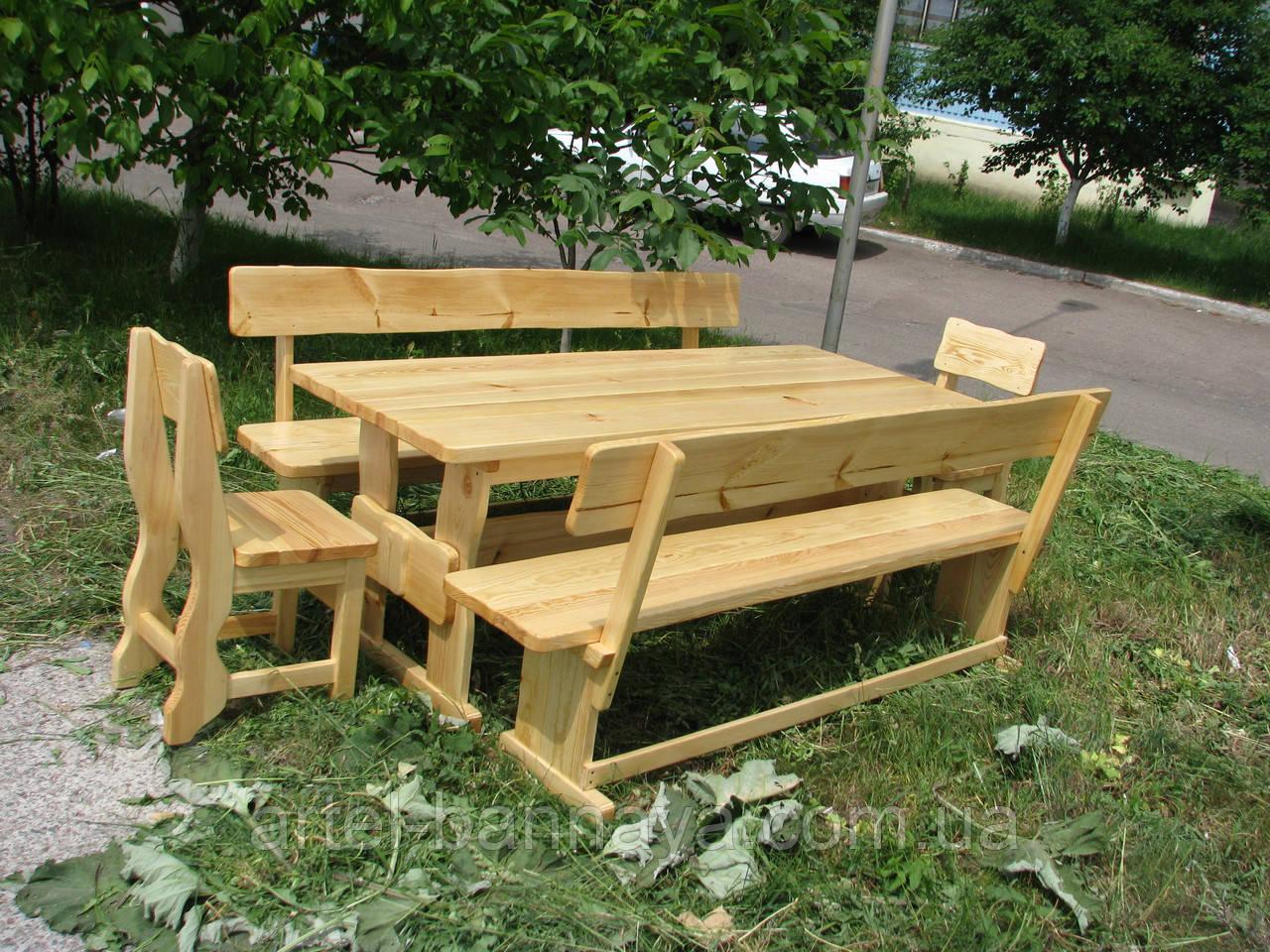 Деревянная мебель для беседок и мангалов в Николаеве от производителя