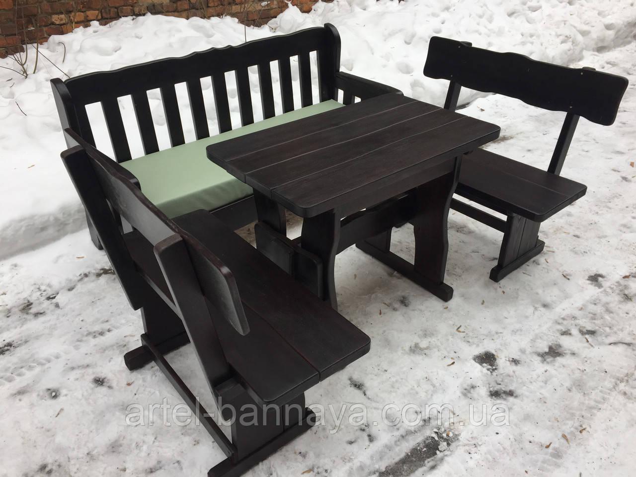 Комплект деревянной мебели с диваном от производителя