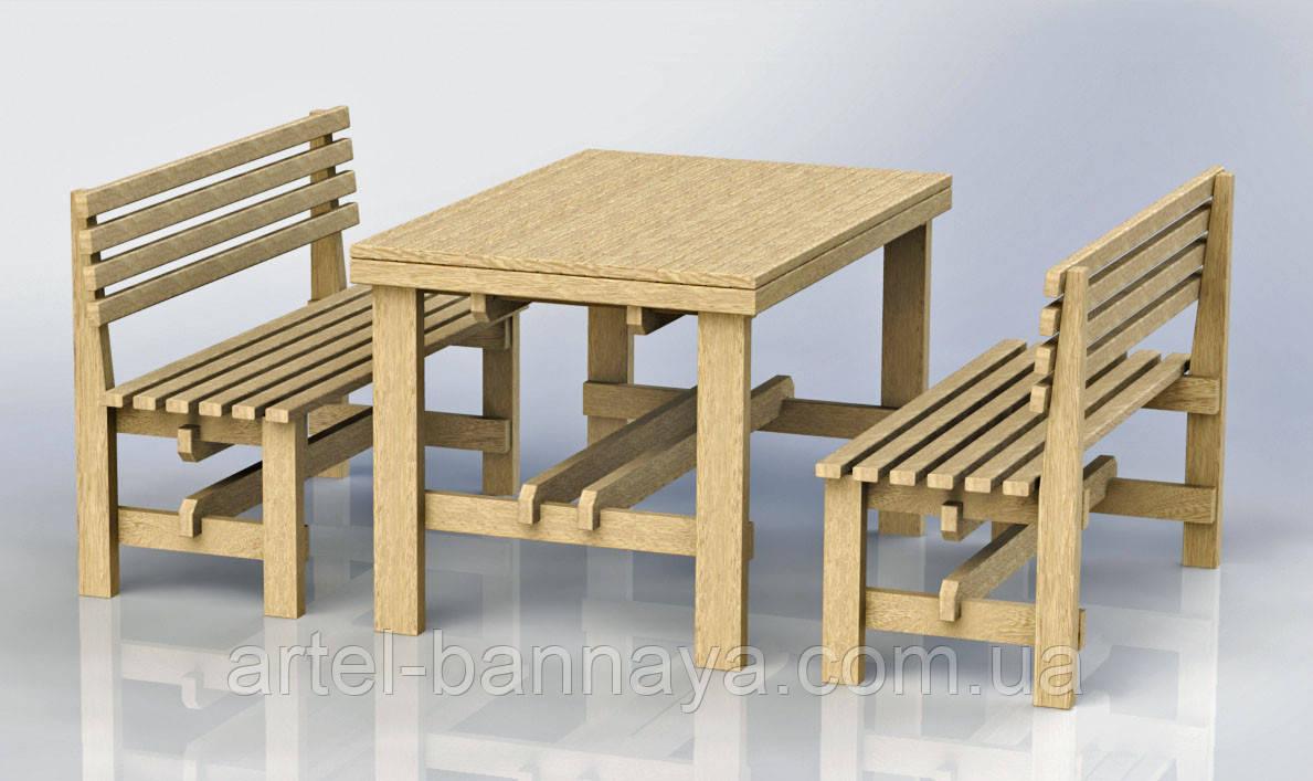 """Комплект деревянной мебели """"Одесса 1"""" 1200х800 от производителя"""