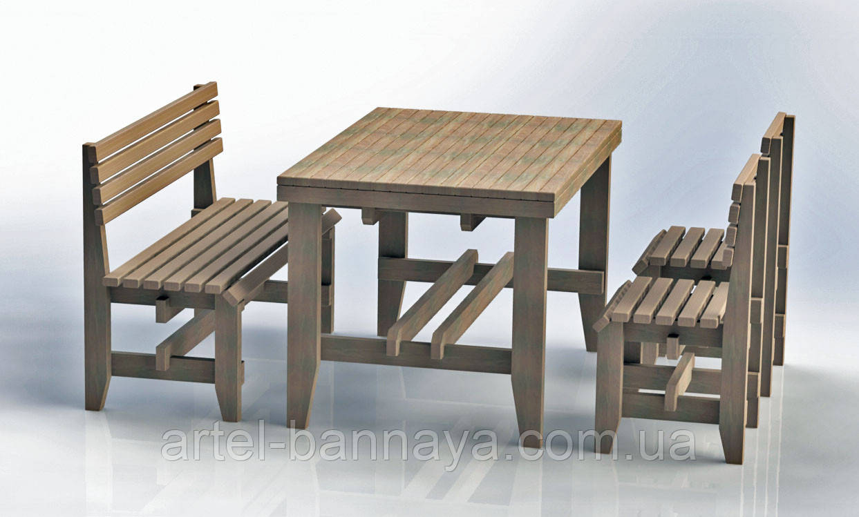 """Комплект деревянной мебели """"Одесса 3"""" 1200х800 от производителя"""
