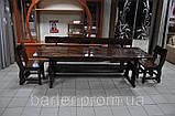 Стол деревянный дачный 1500*800 для кафе, баров, ресторанов от производителя, фото 4