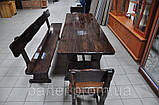Стол деревянный дачный 1500*800 для кафе, баров, ресторанов от производителя, фото 6