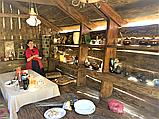 Деревянная беседка под старину из массива древесины, фото 3